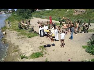 Крещение солдат в озере Чебаркуль Ч.1