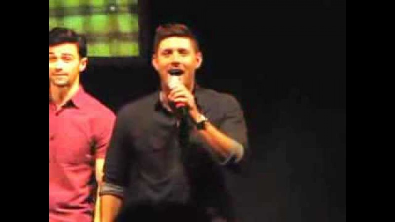 Jensen Ackles singing Carry on My Wayward Son