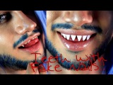 How to create Sharp teeth / Fangs with Fake nails!!   Themed Injection