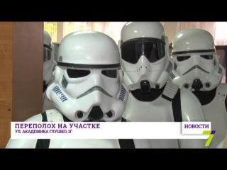 Дарт Вейдер уcтроил переполох на одесском избирательном участке. Дарта Ведйера в президенты Украины!!!