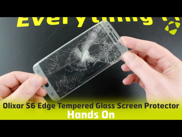 Olixar S6 Edge Tempered Glass Screen Protector Hands On