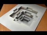 Простые рисунки. Как нарисовать 3D рисунок. Оптическая иллюзия