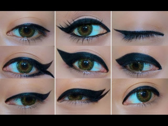 9 Different Eyeliner Looks EASY Eyeliner Tutorial for Beginners How to do eyeliner