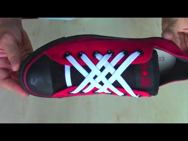 Как красиво зашнуровать обувь...