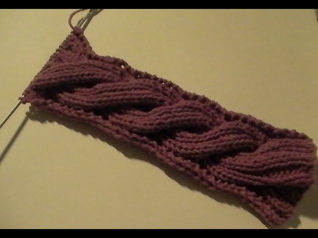 Вязание спицами: жгут для снуда