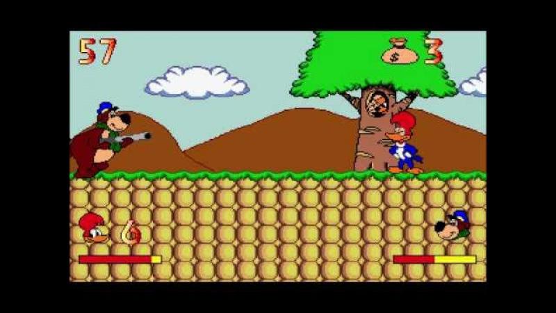 Вуди Вудпеккер на отдыхе (Sega Genesis) 1996 - Easy Mode Stage 1 Bonus Stage