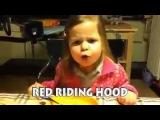 Маленькая девочка поет тяжелый рок! Обалдеть!
