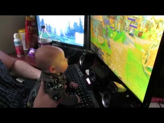 My 3-month old son plays WoW