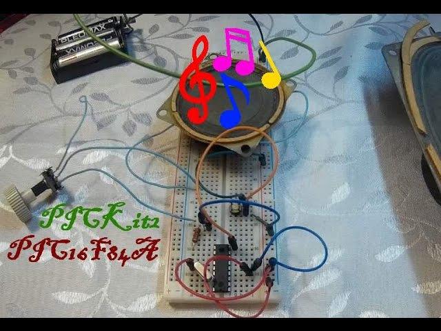 45 Музыкальный звонок на микроконтроллере PIC16F84A Урок 8 Практика