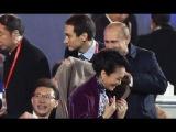 Как Владимир Путин первую леди Китая пледом укрыл.