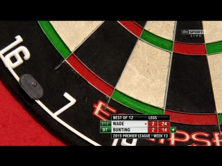James Wade v Stephen Bunting (2015 Premier League Darts / Week 13)