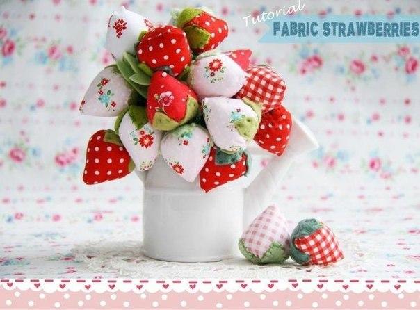 fresas de tela