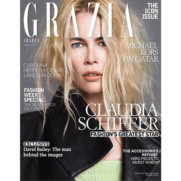 Фото Клаудии Шиффер (Claudia Schiffer) для журнала Grazia апрель 2015