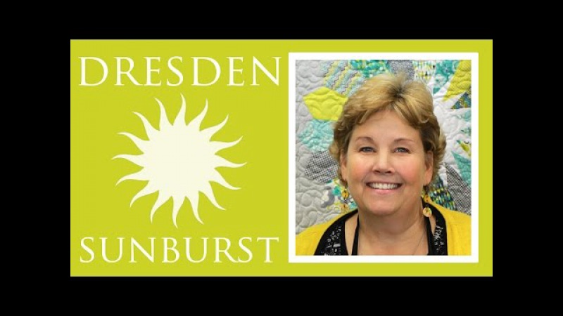 The Dresden Sunburst Quilt Easy Quilting Tutorial with Jenny Doan of Missouri Star Quilt Co
