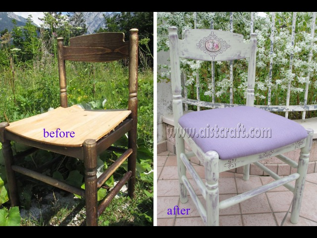 Chalk paint Shabby chic chair decoupage tutorial Furniture refinishing DIY