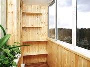 Обшитый деревом балкон. Защитная обработка