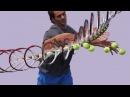 Federer Forehand Right High Ball 3 Super Slow Motion
