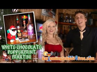 How to make the White Peppermint Chocolate Martini (Holiday Drink Recipes)