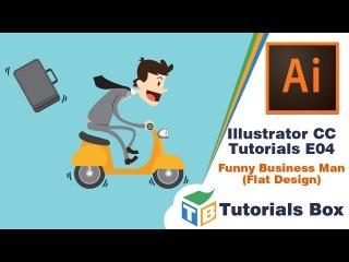 Illustrator CC  Tutorials   E04   Funny Business Man Flat Design