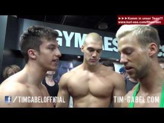 Tim Gabel vs. Patrick Reiser - flexing and posing - FIBO 2014 - TIM-GABEL.COM