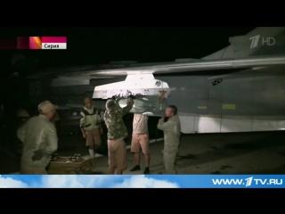 Российская штурмовая авиация уничтожила склад боеприпасов ИГИЛ в районе юго-западнее населенного пункта Идлиб.