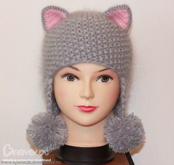 Вязание шапочки-кошки
