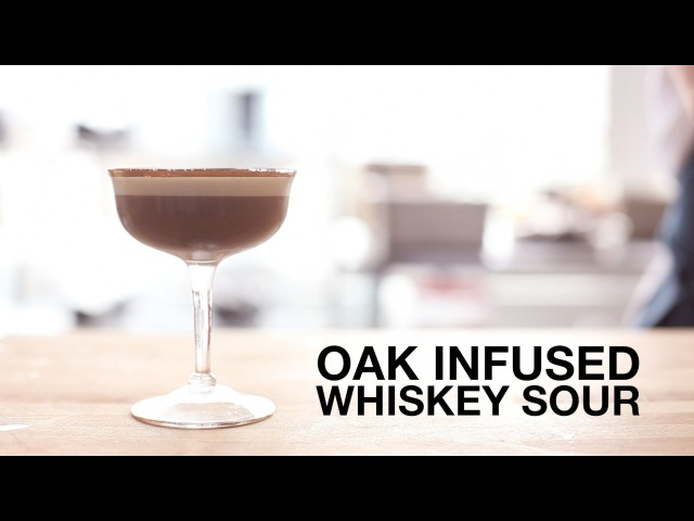 Oak-Infused Whiskey Sour Cocktail • ChefSteps