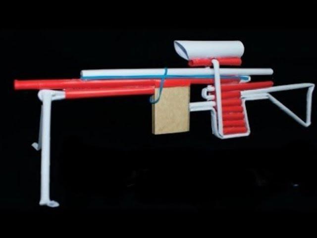 Как сделать снайперку из бумаги которое стреляет инструкция