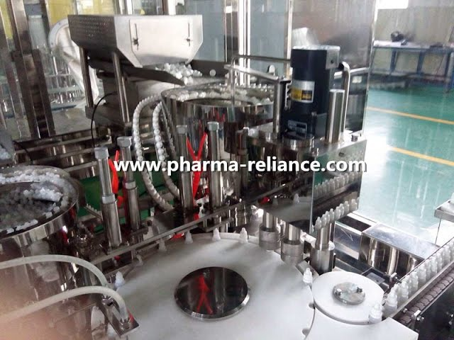 Pharmaceutcial eye drop/ diagnostic reagent fill finish monoblock machine