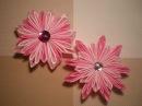 Цветок Канзаши из атласных лент видео Мастер класс /Ribbon Flower / DIY Kanzashi