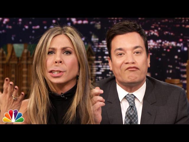 Немного наркомании ) Lip Flip with Jennifer Aniston