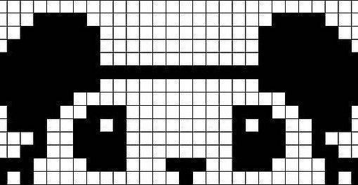 Схемы прямого плетения С: