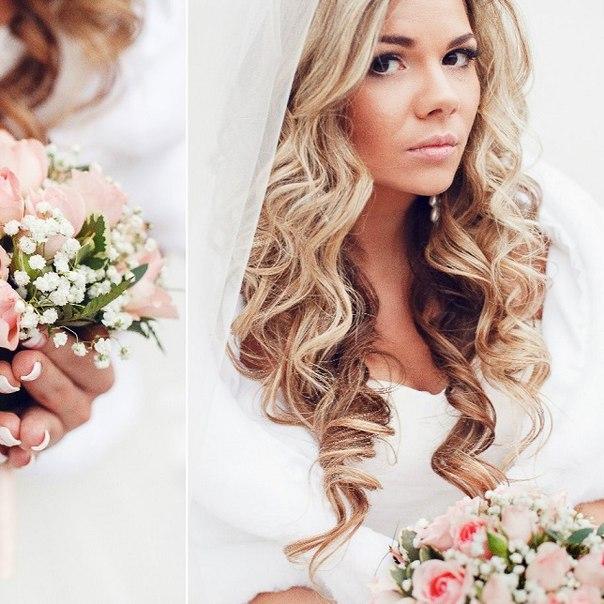 Свадебные прически с ободком из цветов 92