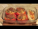 фаршированный перец в духовке с картошкой