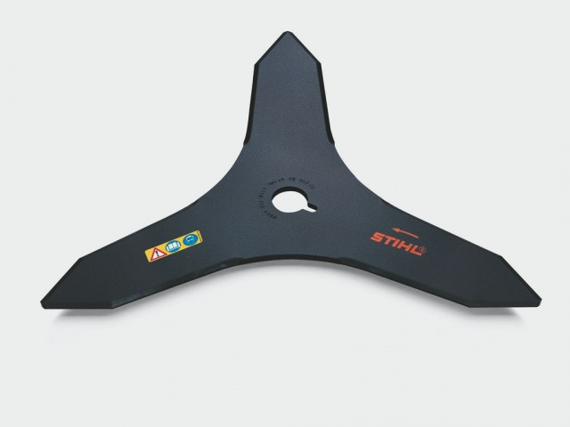 Мотокоса STIHL, установка металлического режущего инструмента (нож для густой поросли 250 мм)