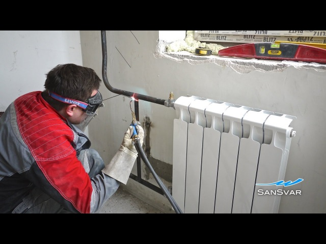 замена радиаторов отопления с газосваркой