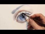 Как рисовать глаз - уроки рисования акварелью человека Артакадемия