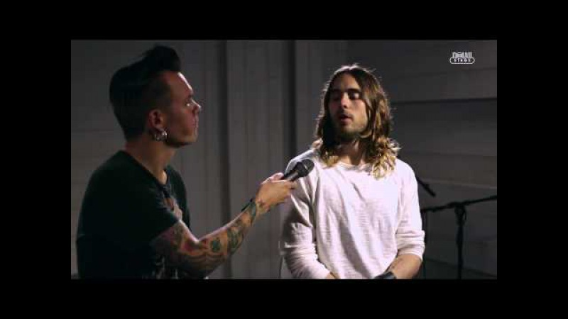 30 Seconds To Mars acoustic City of Angels Hurricane interview HD live at Radio Nova