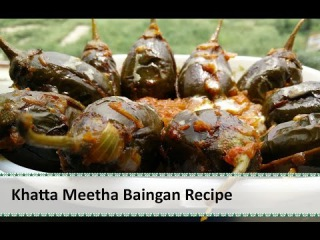 How To Make Khatte Meethe Baingan Recipe |Brinjal Recipe by Healthy Kadai