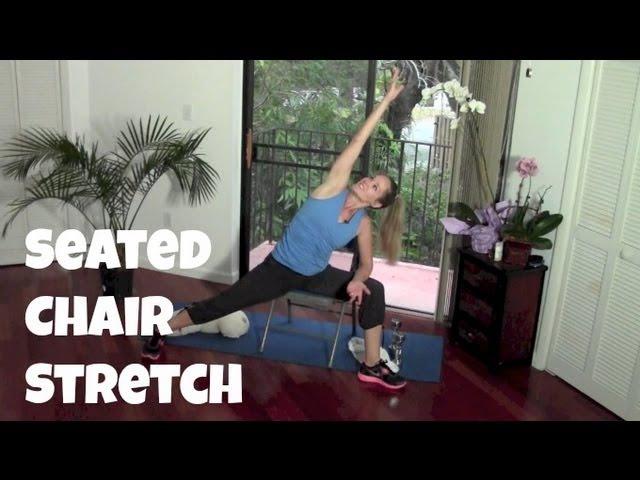 10-минутная растяжка на стуле (быстрая растяжка, упражнения сидя). 10-Minute Seated Chair Stretch Routine (quick stretch, seated exercise)