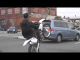 wheeling suicidaire en cross,