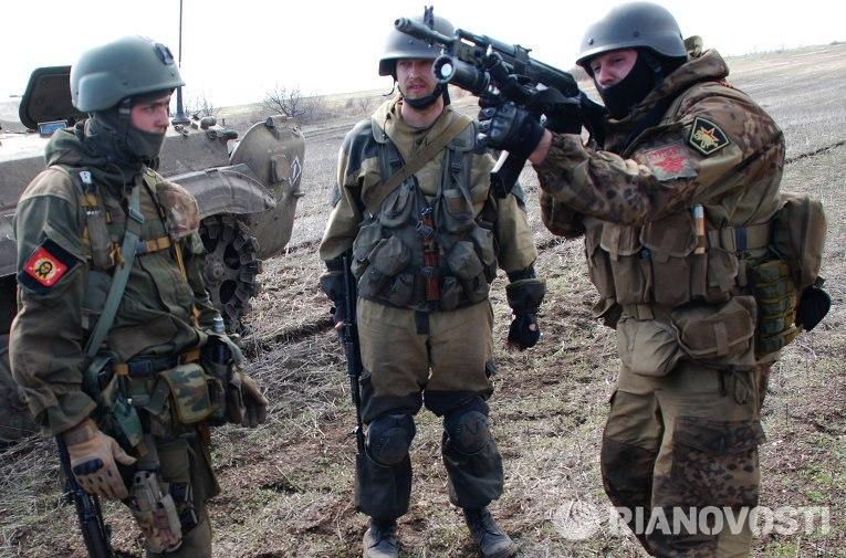 Учения ополченцев ДНР