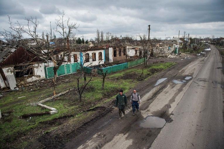 В поселке Никишино Дебальцево нет ни одного целого дома