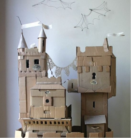 Замок детская поделка