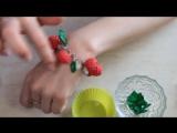 Мастер-класс Малиновый браслет из полимерной глины