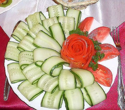 Украшения салатов на день рождения своими руками фото