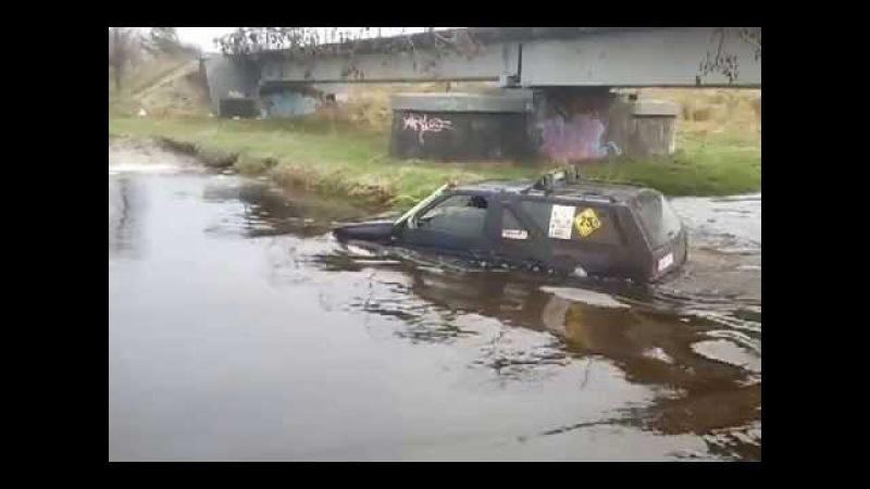 Łask 4x4 OFF ROAD NISSAN TERRANO przejazd przez wode