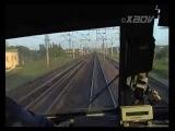 Электровоз ЧС6 013 с поездом Аврора 160 кмч, едем под музыку)) 2009 год.