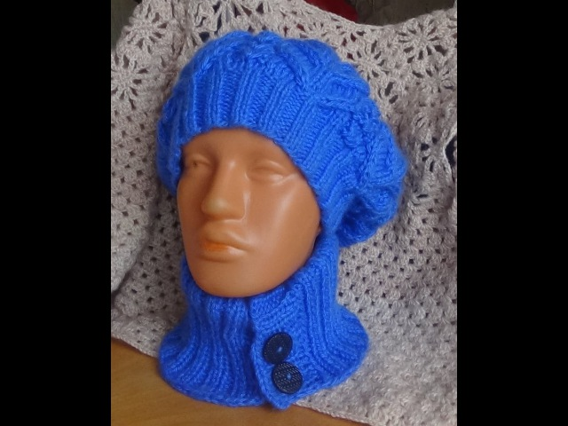 Съемный воротник спицами. Knitted detachable collar