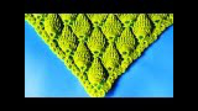 Chal triangular tejido a crochet paso a paso: punto hojas en relieve